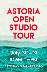 Astoria Open Studio Tour July 30-31 10 am - 4 pm